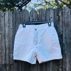 vintage white high waisted shorts